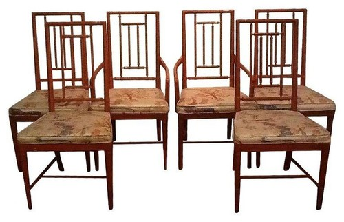Asian Dining Room Furniture: Vintage Chinoiserie Dining Chairs