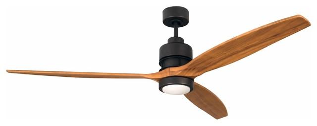 "Craftmade Son52-60esp Sonnet 60"" 3-Blade Ceiling Fan, Espresso/light Oak."