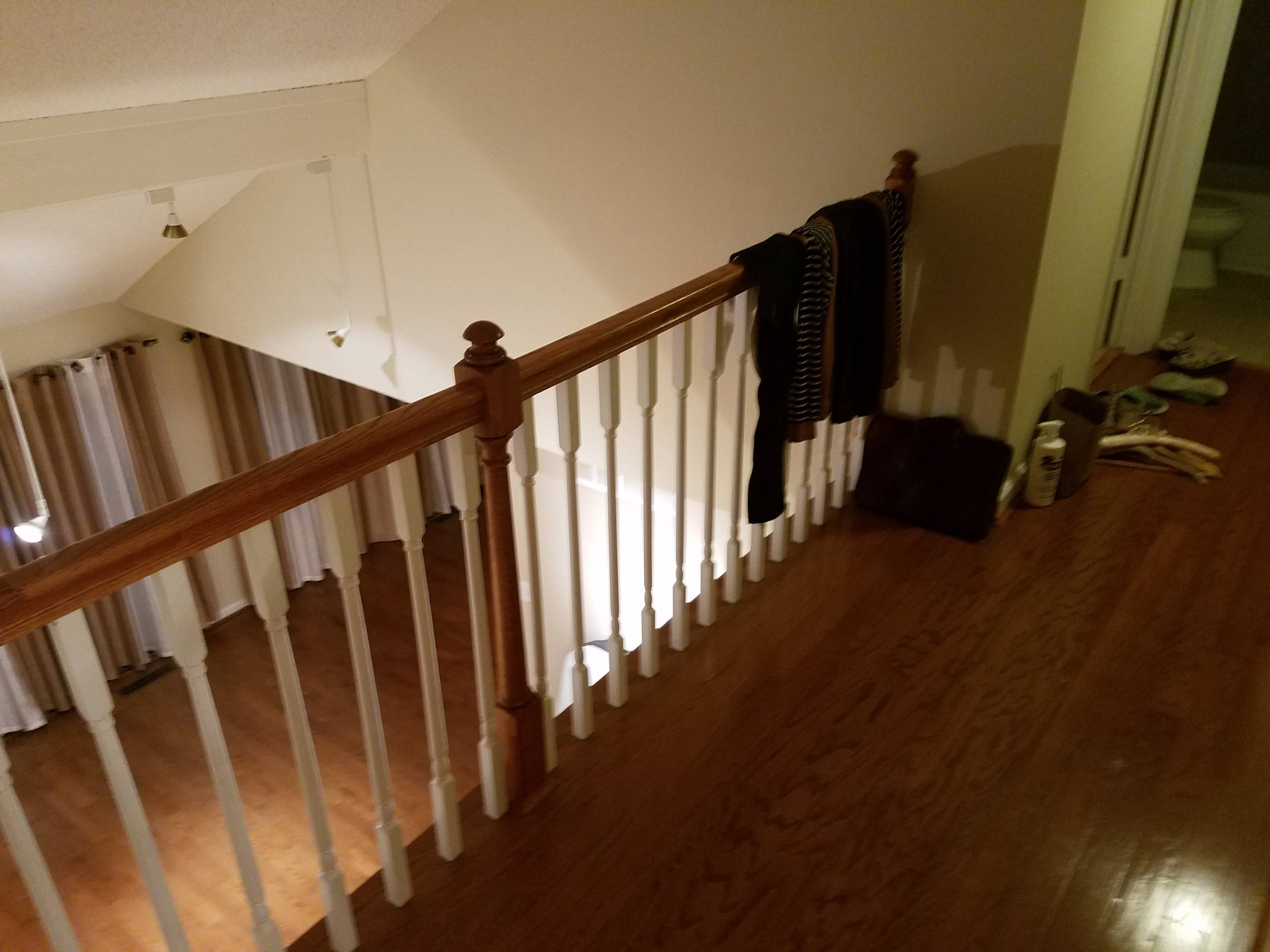 new prefinished woodfloors/ stairs/ handrails