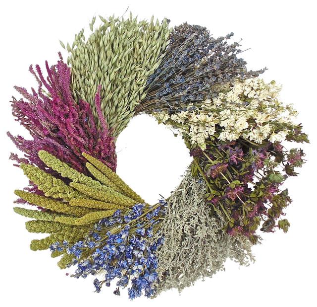 Dried Flower Wheel Wreath