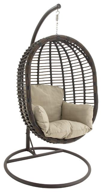 Metal Pe Rattan Pod Chair Modern Hammocks And Swing