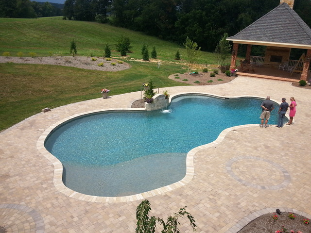 Free-form Gunite Swimming Pool with Waterfeature - Other ...