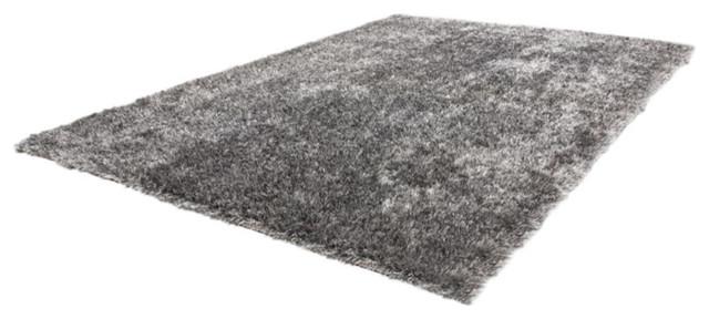 Diamond Shag Rug, Grey White, 160x230 cm