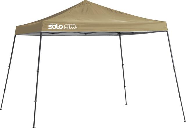 Solo Steel 90 11&x27;x11&x27; Slant Leg Canopy, Khaki.