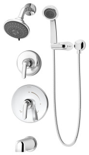 Elm 2 Handle Tub Shower Trim With Hand Shower Transitional Tub And Shower Faucet Sets By Symmons Houzz