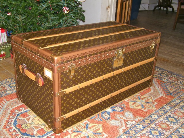Like New Louis Vuitton Steamer Trunk - Traditional - Decorative Trunks - by Suzy Cacic