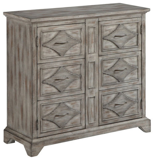 Accent Cabinet With Two Style Doors, Gray With A Touch Of Brown, 40