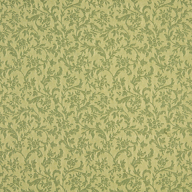 Light Green Foliage And Flowers Upholstery Fabric By The Yard ...