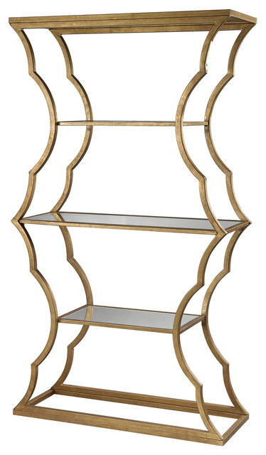 Dimond Home Metal Cloud Bookcase, Painted Gold