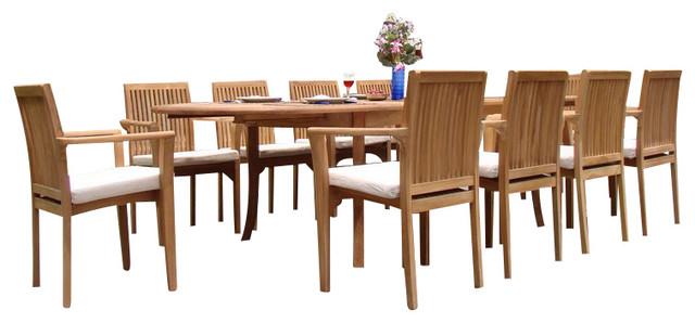 9-Piece Outdoor Teak Dining Set, 94