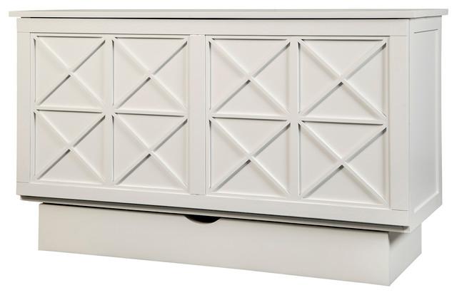 Arason Essex Creden Zzz Queen Cabinet Bed White