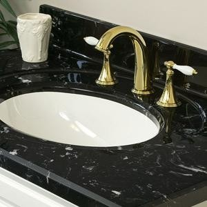 Cultured Marble Vanity Top With Black White Vein