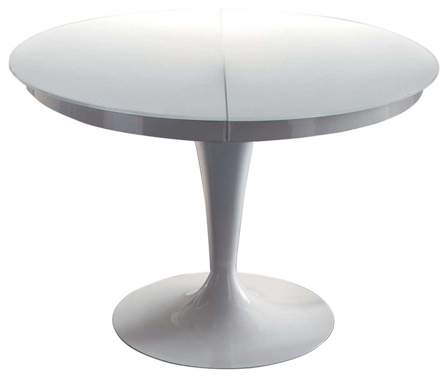 Elise Circular Dining Extendable Table Midcentury Dining Tables By Yumanmod