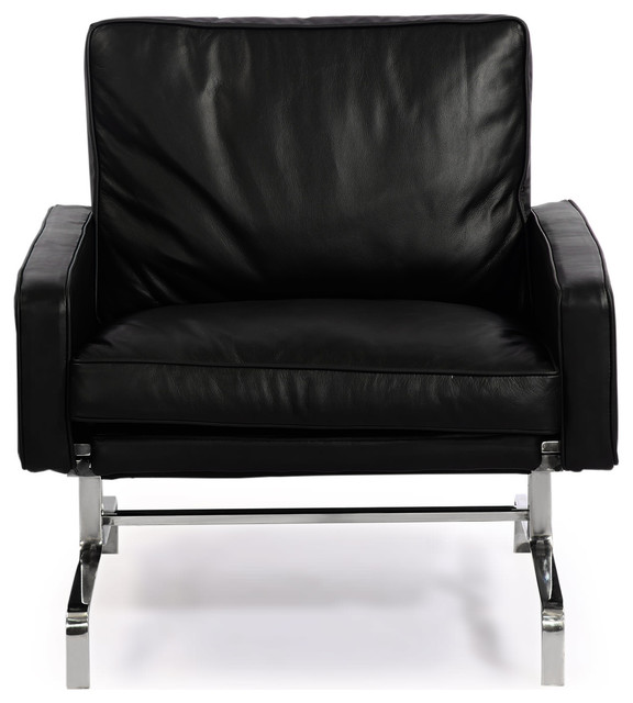 Pk31 Style Modern Arm Chair Aniline Premium Leather