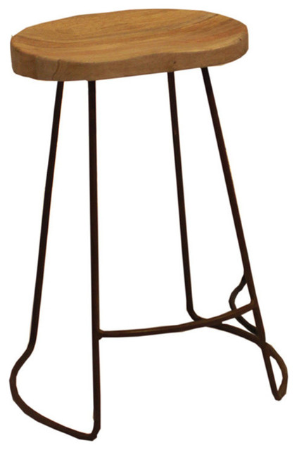Attractive Wooden Bar Stool with Iron Legs rustic-bar-stools-and-counter  sc 1 st  Houzz & The Urban Port Brand Attractive Wooden Barstool With Iron Legs ... islam-shia.org