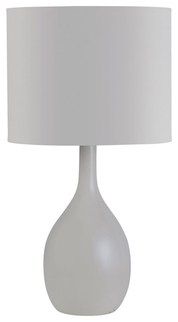 Superb Dainolite CL1713 GRY 1 Lite Table Lamp Ceramic Grey Contemporary Table Lamps