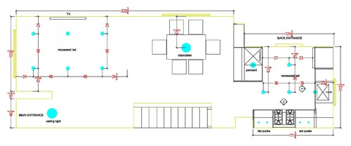 Recessed light placement help