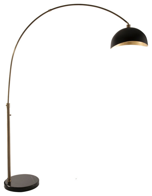 brass arc lamp brushed gold luna bella arc lamp weathered brass contemporary floor lamps