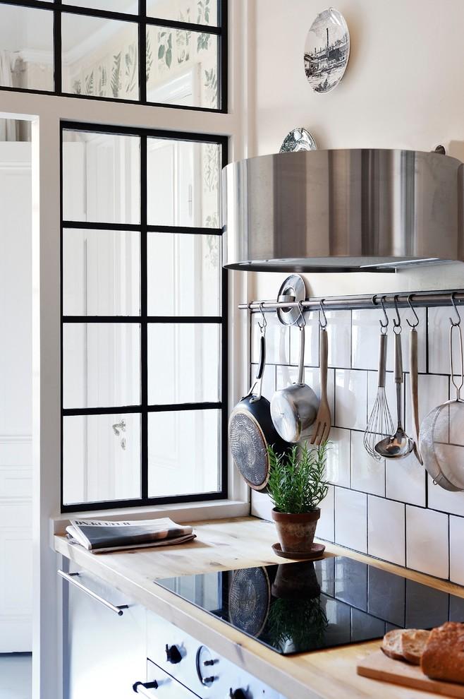 Danish kitchen photo in Gothenburg