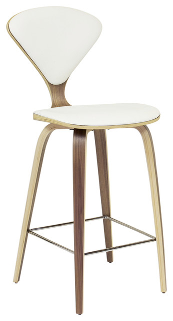 Satine Stool With White Leather Counter Height Midcentury Bar Stools And Counter Stools By The Khazana Home Austin Furniture Store