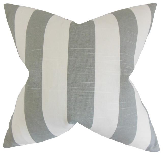 The Pillow Collection Betchet Geometric Bedding Sham Ash King//20 x 36