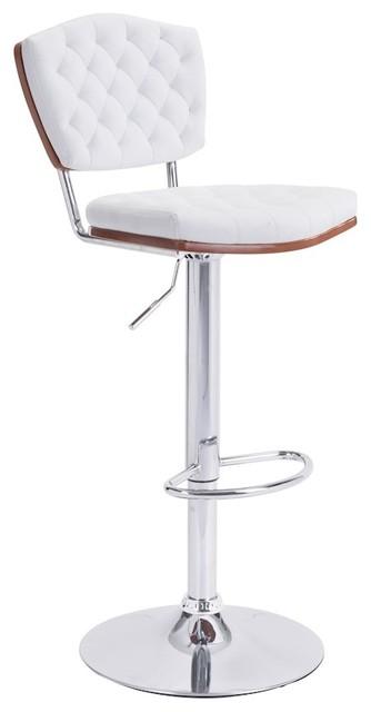 Zuo Tiger Modern Bar Chair, White.