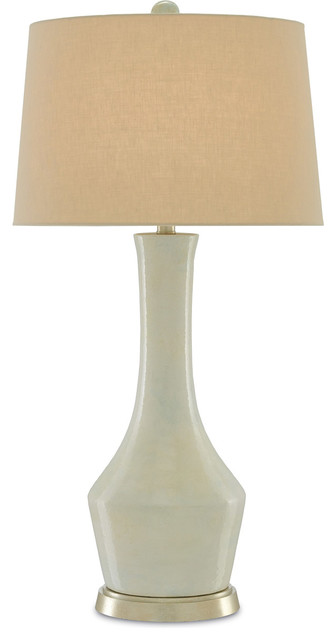 Olwyn 1-Light Table Lamps, Cream And Silver Leaf.