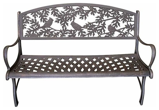 Shop Houzz Painted Sky Cast Iron Garden Bench Outdoor Benches