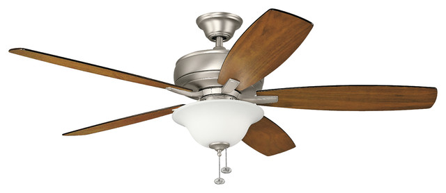 "60"" Terra Select Fan, Brushed Nickel/silver/walnut Blade."