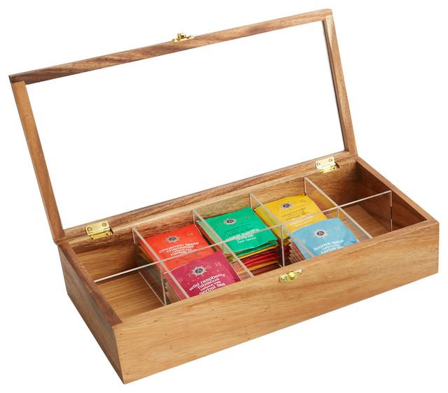10 Compartment Tea Storage Box