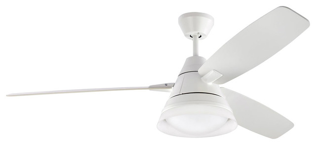 Nord 1-Light Indoor Ceiling Fans, Rubberized White.