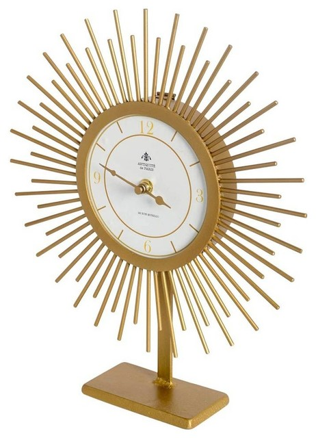 Mercana Enduring Elegance Table Clock, Gold   Midcentury   Desk And Mantel  Clocks   By GwG Outlet