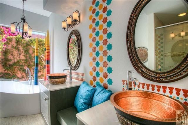 Palm Desert Modern Moroccan Bath Eclectic Bathroom
