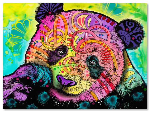 Dean Russo Psychedelic Panda Canvas Art Asian Prints