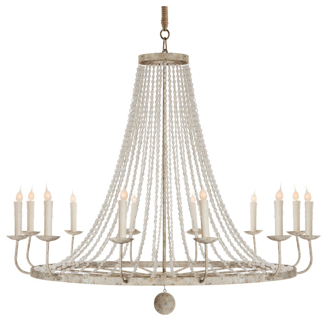 naples french country classic beaded gray 12 light chandelier traditional chandeliers
