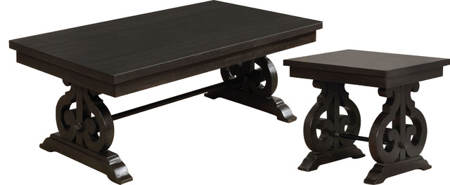 Aragon Rustic Coffee And End Table 2 Piece Set Traditional