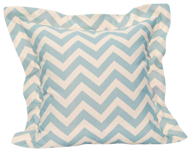 "Sierra Pillow Cover, Blue, 20""x20"" With Flange"