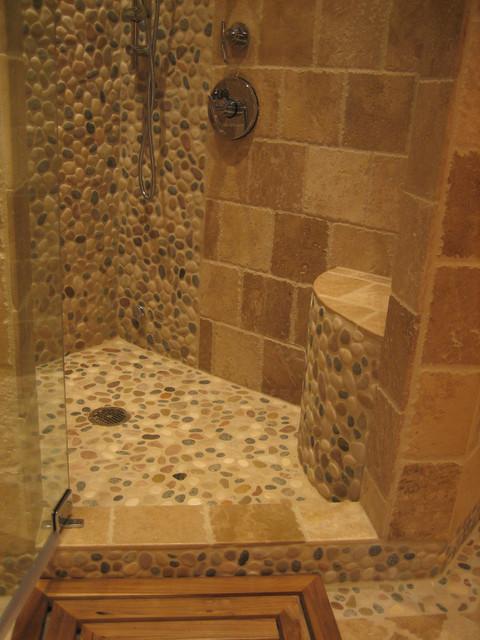 Island stone pebble bathroom design rustic wall for 14 wall street 23rd floor