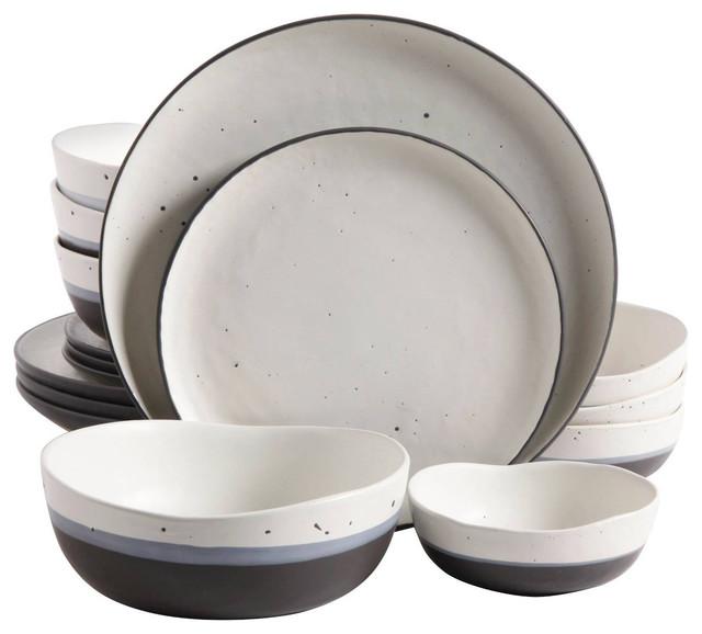 Gibson Elite Rhinebeck 16-Piece Stoneware Dinnerware Set.
