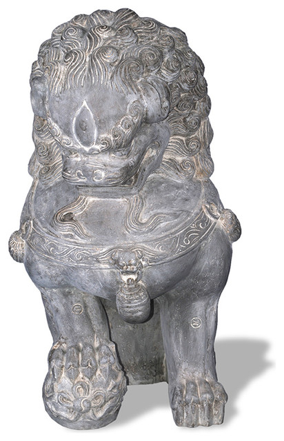 Foo Dog Statue Right Facing Asian Garden Statues And Yard