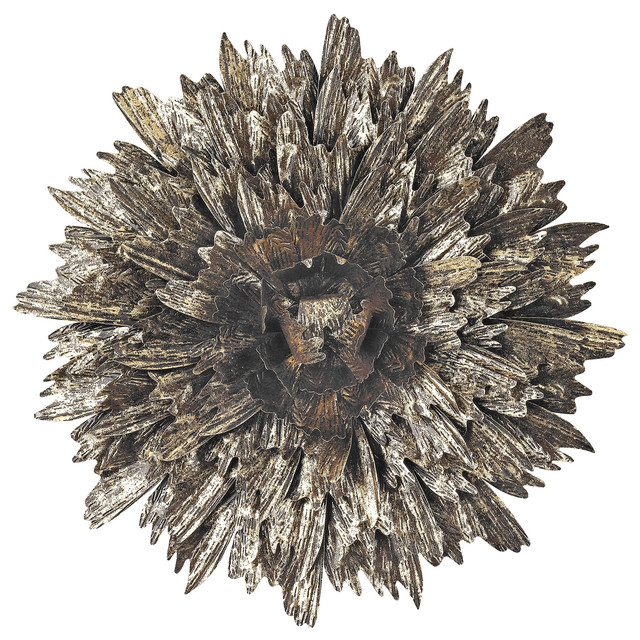 3138 202 Metal Foliage Explosion Wall Decor Traditional Sculptures