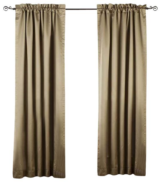 olive green rod pocket 90 blackout curtain drape. Black Bedroom Furniture Sets. Home Design Ideas