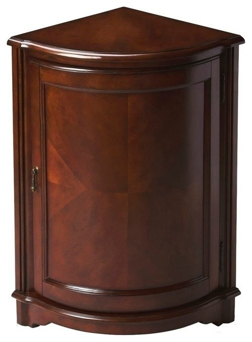 Butler Specialty Traditional Corner Cabinet in Plantation Cherry