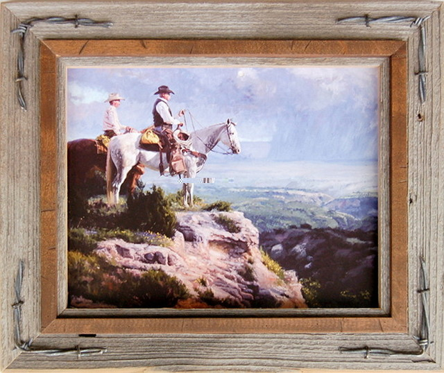 western frames with barbed wire hobble creek series l 11x14 rustic picture frames