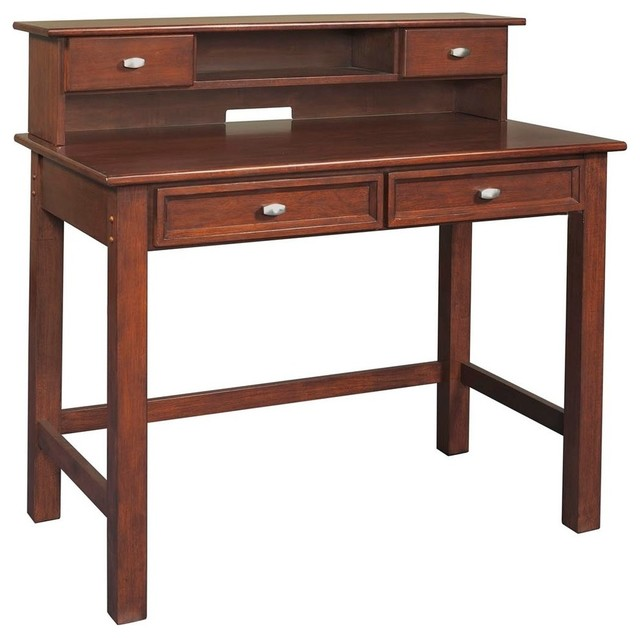 Home Styles Furniture Hanover Wood Student Writing Desk With Hutch In Cherry Transitional Kids