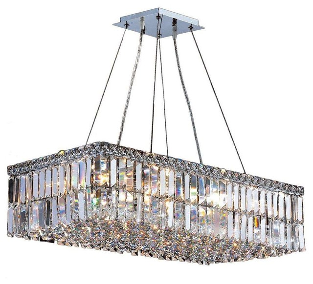 Cascade rectangle 16 light crystal chandelier chrome 28 cascade rectangle 16 light crystal chandelier chrome 28 aloadofball Image collections