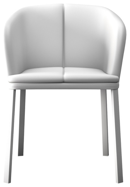 Incredible Como Dining Chair White Eco Leather Andrewgaddart Wooden Chair Designs For Living Room Andrewgaddartcom