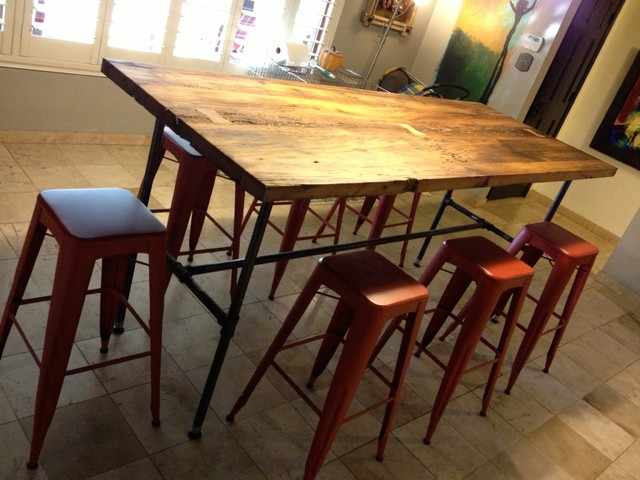 Reclaimed Wood Dining Table White Oak Gas Pipe  : eclectic dining tables from www.houzz.co.uk size 640 x 480 jpeg 82kB