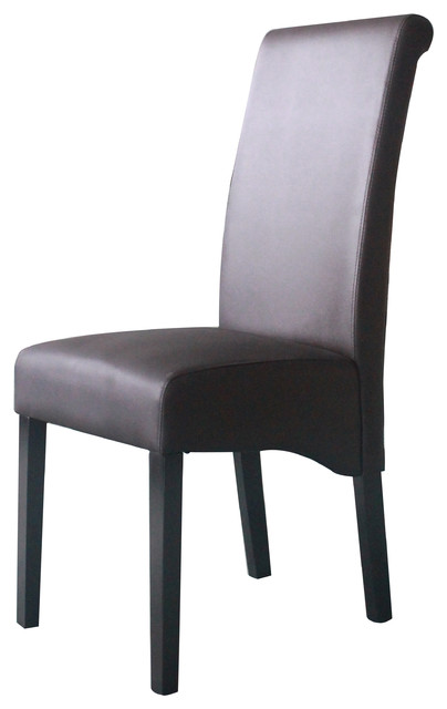 Sleek High Back Parson S Chair Transitional Dining