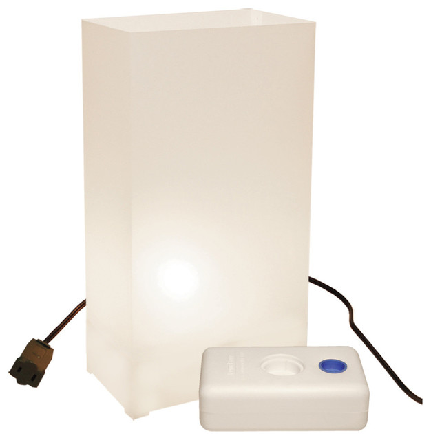 Electric Luminaria Kit With Lumabases White.